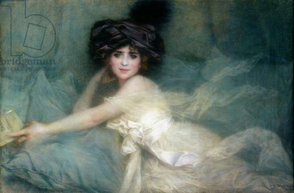 Portrait of Mademoiselle Carlier or, The Lady in the Turban, 1910 (pastel on paper)