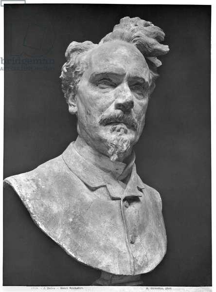 Bust of Henri Rochefort (1830-1913) (plaster) (b/w photo)