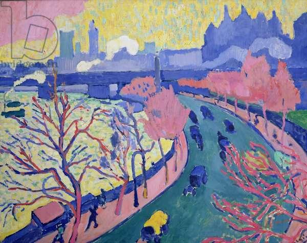 Charing Cross Bridge, c.1906 (oil on canvas)