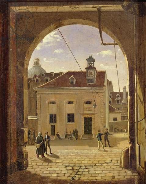 Institution Sainte-Barbe, Rue de Reims, in 1824 (oil on canvas)