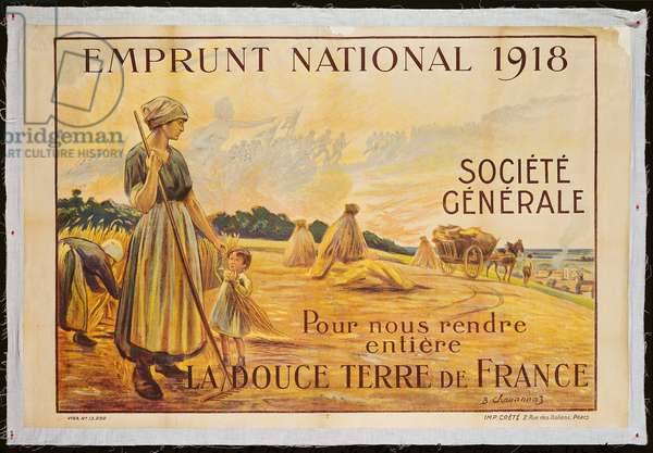 Poster for the Loan for National Defence from the Societe Generale, 1918 (colour litho)