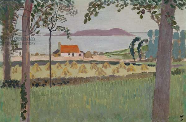 The little farm at Louannec, 1911 (oil on canvas)