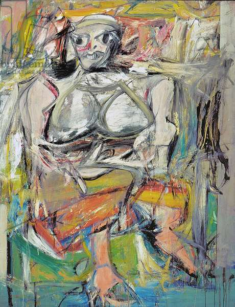 Woman I, 1950-52 (oil on canvas)