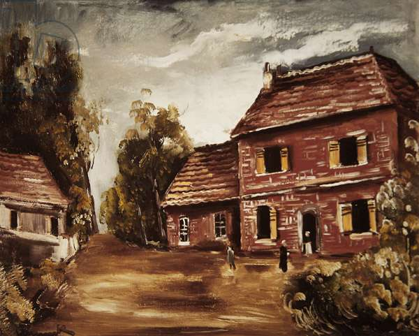 The Red House, 1928 (oil on canvas)