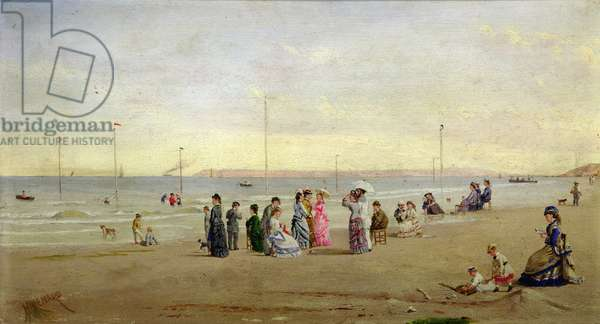 Seaside at Trouville (oil on canvas)