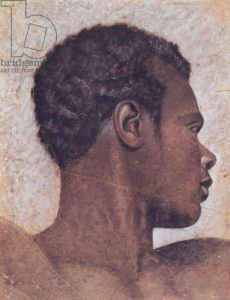 Head of a Negro (w/c on paper)