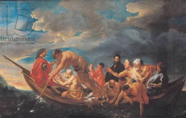 The Miraculous Draught of Fishes, c.1640 (oil on canvas)