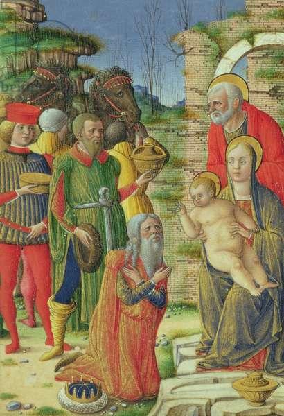 Adoration of the Magi, c.1465 (vellum)