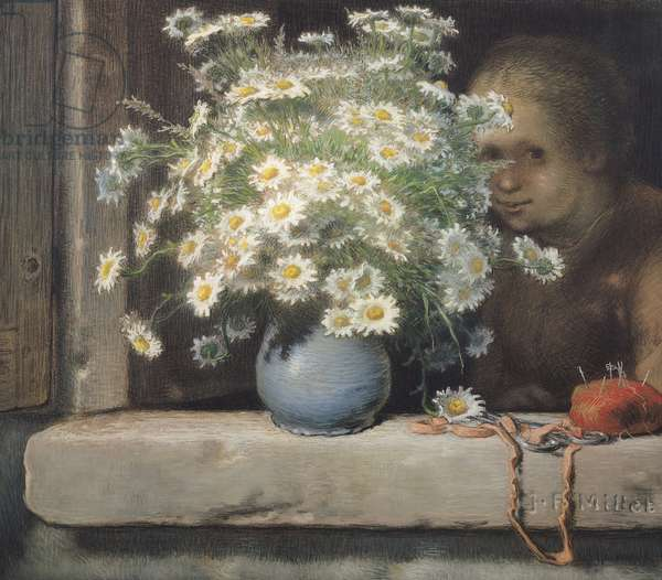 The Bouquet of Margueritas, 1866 (pastel on paper)