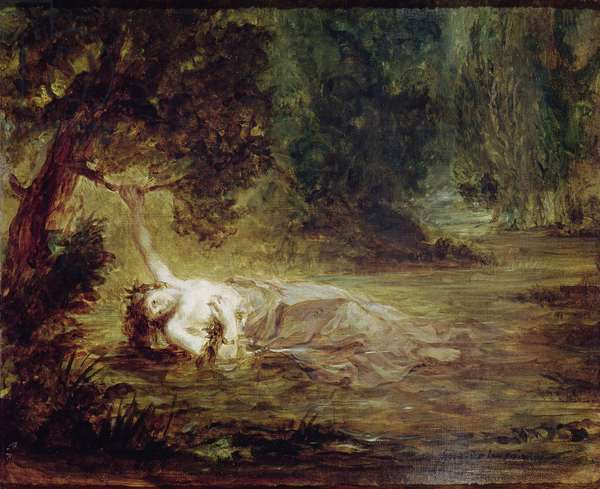 The Death of Ophelia, 1838 (oil on canvas)