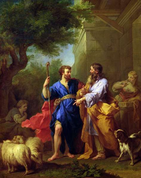 Jacob and Laban, before 1737 (oil on canvas)