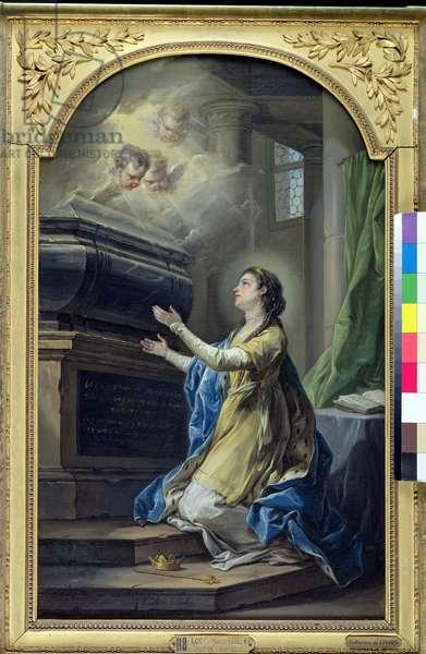 St. Clotilda (474-545) (oil on canvas)