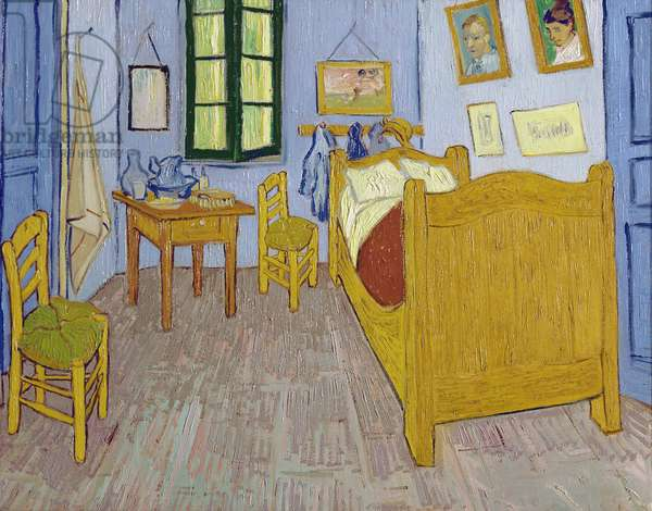 Van Gogh's Bedroom at Arles, 1889 (oil on canvas)