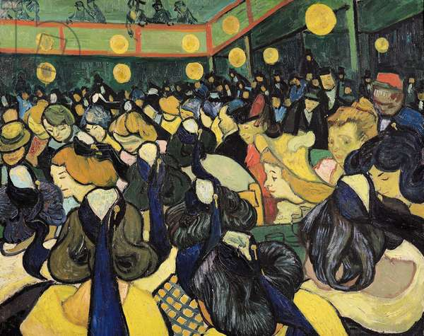 The Dance Hall at Arles, 1888 (oil on canvas)