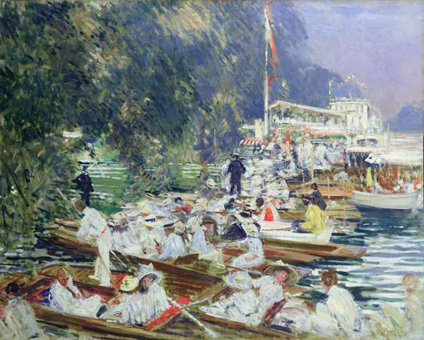 The Regatta (oil on canvas)