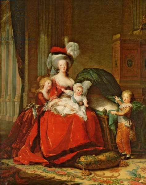 Marie-Antoinette (1755-93) and her Children, 1787 (oil on canvas)