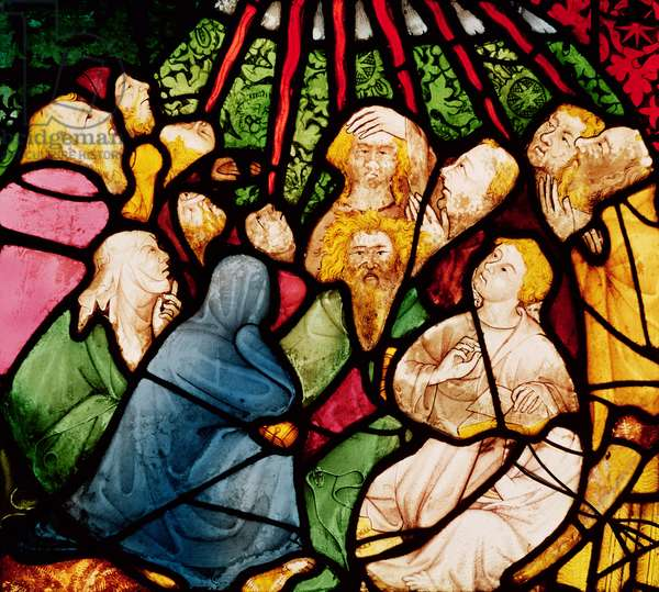 The Descent of the Holy Spirit, c.1400 (stained glass)