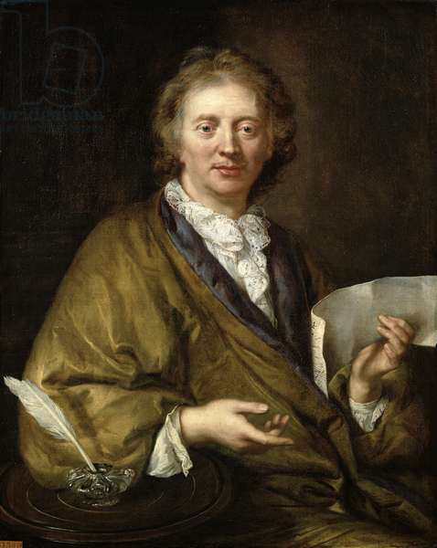 Portrait of a Man, presumed to be Francois II Couperin (1668-1733) (oil on canvas)