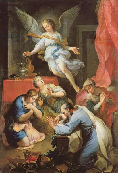 Archangel Raphael makes himself known, 1733 (oil on canvas)