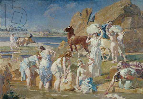 Nausicaa at the Fountain (oil on canvas)
