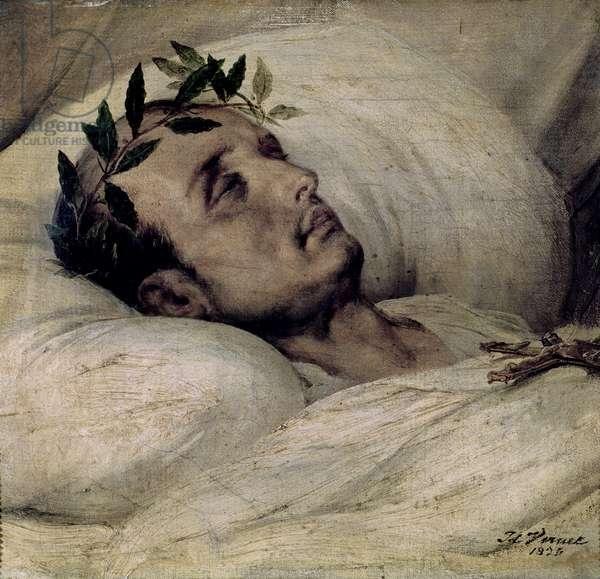 Napoleon I (1769-1821) on his Deathbed, 1825 (oil on canvas)