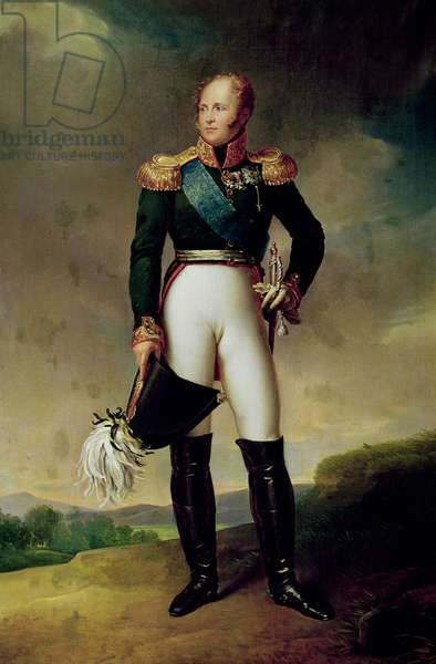 Portrait of Alexander I (1777-1825) 1814 (oil on canvas)