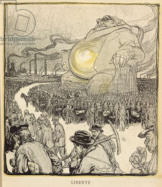 Freedom, caricature from 'L'Assiette au beurre', 11th January 1902 (colour engraving)
