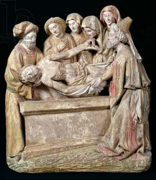 The Emtombment, from the Beguine Convent in Cambrai (polychrome wood)
