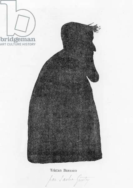 Caricature and silhouette of Tristan Bernard (litho)