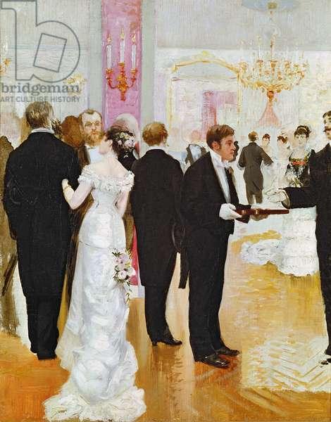 The Wedding Reception, c.1900 (oil on canvas)
