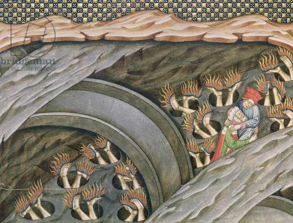 Ms 2017 f.245 Dante's Inferno with a commentary by Guiniforte delli Bargigi (vellum), ca. 1440