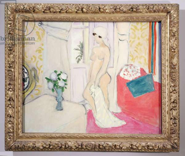 Pink nude or Young girl with the vase of flowers, 1921 (oil on canvas) (see also 869812)