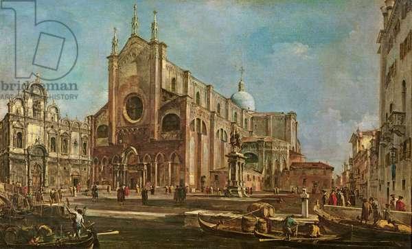 Campo dei Santi Giovanni e Paolo and the Scuola Grande di San Marco, Venice (oil on canvas)