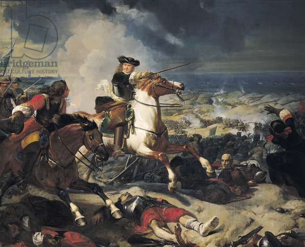 Battle of the Dunes, 14th June 1658, 1837 (oil on canvas)