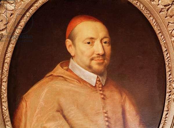 Portrait of Cardinal Pierre de Berulle (1575-1629) (oil on canvas) (detail)