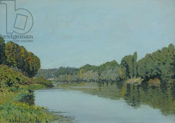 The Seine at Bougival, 1873 (oil on canvas)