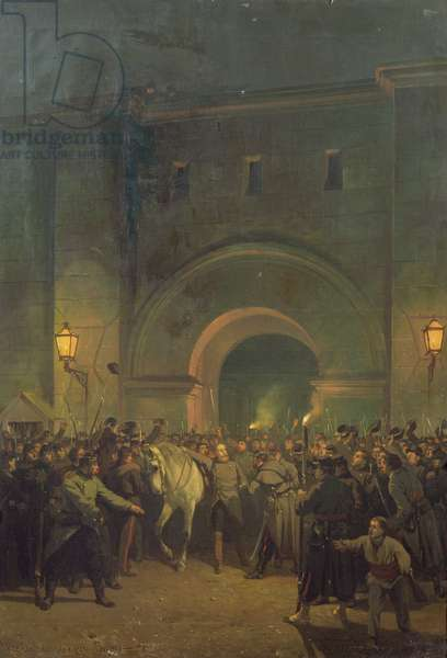Liberation of Political Prisoners from the Mazas Prison, 21st January 1871 (oil on canvas)