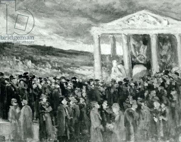 Burial of Auguste Rodin at the Villa des Brillants, 1917 (oil on canvas)
