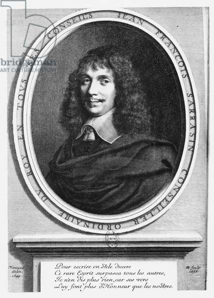 Portrait of Jean-François Sarasin (engraving)