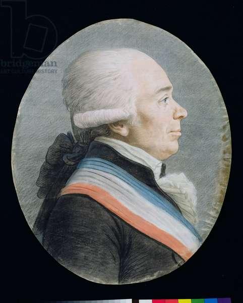 Jerome Petion de Villeneuve (1756-94) (pastel on paper)