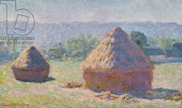 Grainstacks at the end of the Summer, Morning effect, 1891 (oil on canvas)