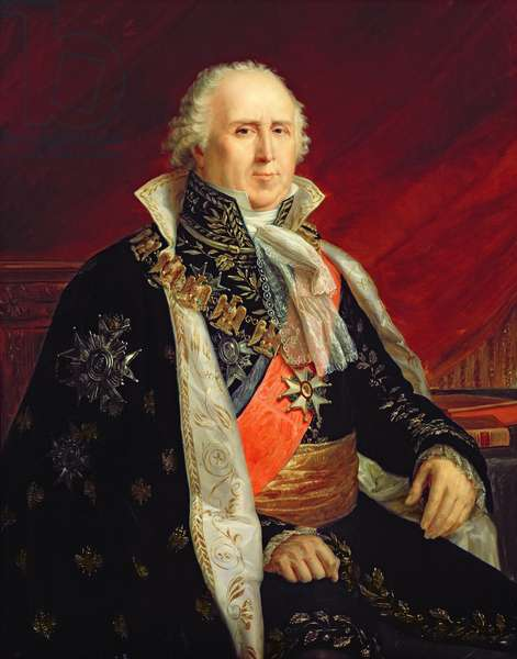 Charles-Francois Lebrun (1739-1824) Duke of Plaisance in the Costume of the Archtreasurer of the Empire (oil on canvas)