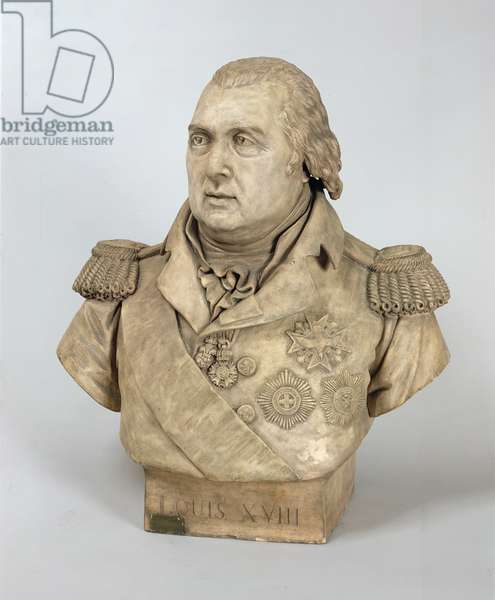 Bust of Louis XVIII (1755-1824) (stone)