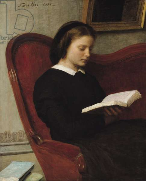 The Reader, 1861 (oil on canvas)