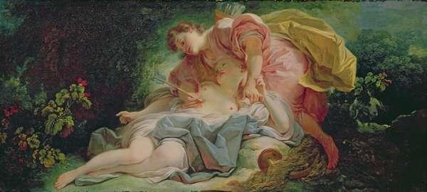 Cephalus and Procris (oil on canvas)