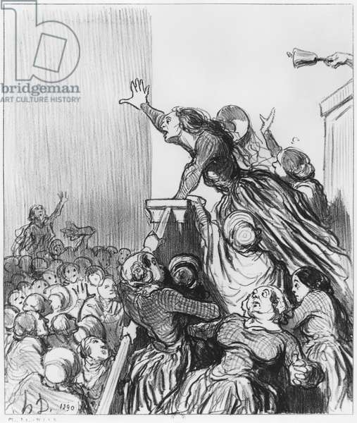 Series 'Les Divorceuses', plate 1, illustration from 'Le Charivari', 4th August 1848 (litho) (b/w photo)