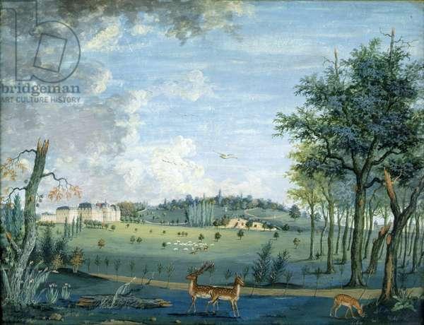 Parc du Raincy, the Chateau and the Rocks, c.1754-93 (gouache on paper)