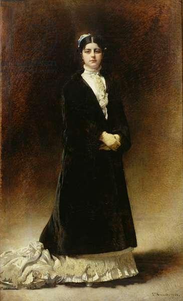 Portrait of Emanuella Pignatelli, Countess Potocka, 1880 (oil on canvas)
