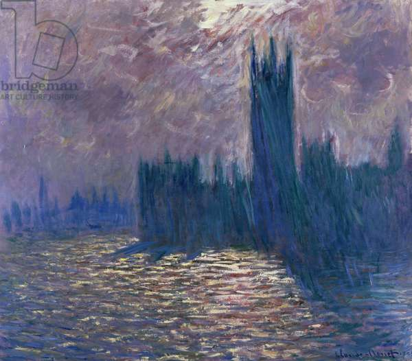 Parliament, Reflections on the Thames, 1905 (oil on canvas)