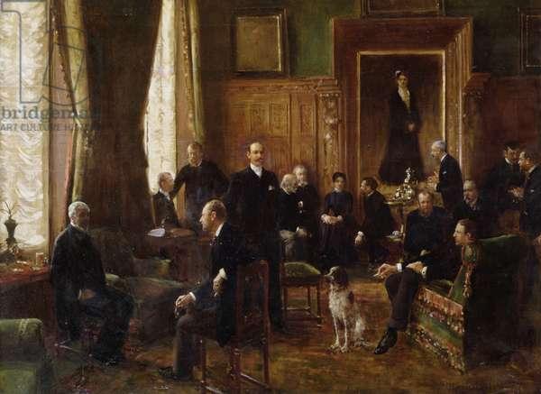 The Salon of the Countess Potocka, 1887 (oil on canvas)